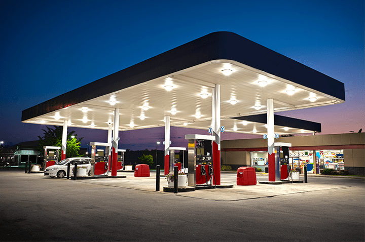 Gas-Station outdoor lighting